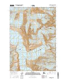 Topo map Valdez B-6 SW Alaska