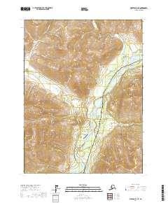 Topo map Wiseman B-1 NE Alaska