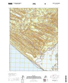Topo map Yakutat A-2 NW Alaska