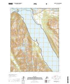 Topo map Yakutat D-4 NW Alaska