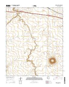 Meteor Crater Arizona Map.Landmarkhunter Com Meteor Crater Arizona 7 5 Minute Quadrangle