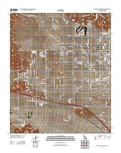 Desert Hot Springs California Map.Usgs Us Topo 7 5 Minute Map For Desert Hot Springs Ca 2012