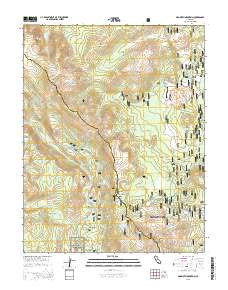 Mammoth Mountain California Map.Usgs Us Topo 7 5 Minute Map For Mammoth Mountain Ca 2015