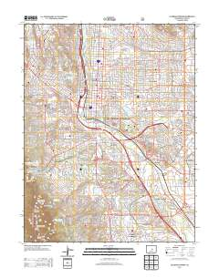 Topographic Map Colorado Springs.Usgs Us Topo 7 5 Minute Map For Colorado Springs Co 2013