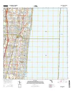 Map Of Boca Raton Florida.Usgs Us Topo 7 5 Minute Map For Boca Raton Fl 2015 Sciencebase