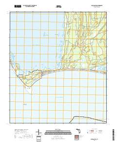 USGS US Topo 7.5-minute map for Cape San Blas, FL 2018 - ScienceBase Cape San Blas Florida Map on
