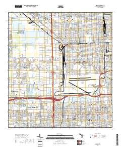 Hialeah Florida Map.Usgs Us Topo 7 5 Minute Map For Hialeah Fl 2018 Sciencebase Catalog