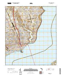 Map Of Pensacola Florida.Usgs Us Topo 7 5 Minute Map For Pensacola Fl 2018 Sciencebase Catalog