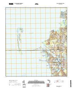 Tarpon Springs Florida Map.Usgs Us Topo 7 5 Minute Map For Tarpon Springs Fl 2018