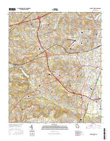 Map Of West Georgia.Usgs Us Topo 7 5 Minute Map For Augusta West Ga 2017 Data Gov