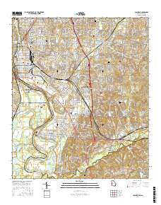 Map Of Columbus Georgia.Usgs Us Topo 7 5 Minute Map For Columbus Ga Al 2017 Sciencebase