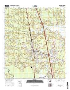 Map Of Kingsland Georgia.Usgs Us Topo 7 5 Minute Map For Kingsland Ga Fl 2017 Data Gov