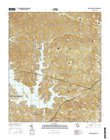 USGS US Topo 7.5-minute map for Lake Sinclair East, GA 2017 ... Topo Map Of Lake Sinclair on vintage topo map, united states topo map, cedar creek topo map, lake sinclair georgia map, oconee national forest topo map, ga power lake sinclair map, lake sinclair history,