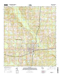 Map Of Quitman Ga.Usgs Us Topo 7 5 Minute Map For Quitman Ga 2014 Data Gov