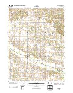 Cantril Iowa Map.Landmarkhunter Com Cantril Iowa 7 5 Minute Quadrangle