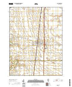 Usgs 1 24 000 Arcola Illinois 14 00 Charts And Maps Onc And