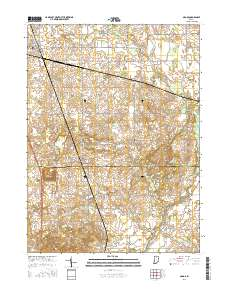 Usgs 1 24 000 Argos Indiana 14 00 Charts And Maps