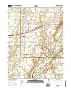Knightstown Indiana Map.Landmarkhunter Com Knightstown Indiana 7 5 Minute Quadrangle