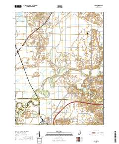 USGS US Topo 7.5-minute map for Lyons, IN 2019 - Data.gov Map Of Lyons on