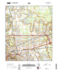 Usgs Us Topo 75 Minute Map For Bossier City La 2018 Sciencebase - Us-map-la