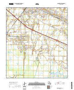 USGS US Topo 75minute map for New Iberia South LA 2018
