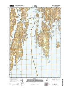 Usgs Us Topo 7 5 Minute Map For Boothbay Harbor Me 2014