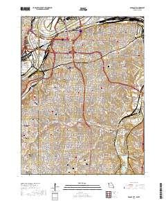 Usgs Us Topo 7 5 Minute Map For Kansas City Mo Ks 2017