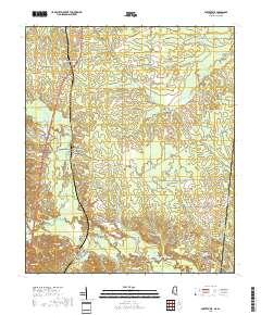 USGS US Topo 7.5-minute map for Porterville, MS,AL 2018 ...