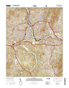 USGS US Topo 7.5-minute map for Asheville, NC 2016 ...
