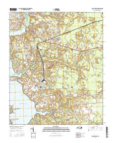 USGS US Topo 7.5-minute map for Camp Lejeune, NC 2016 - ScienceBase Camp Lejeune Map Building Numbers on