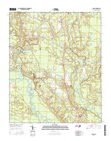 USGS US Topo 7.5 minute map for Currie, NC 2016   ScienceBase Catalog