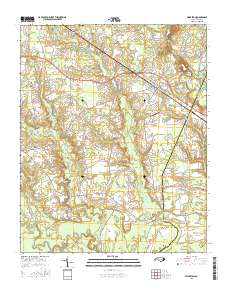 Princeton Nc Map.Usgs Us Topo 7 5 Minute Map For Princeton Nc 2016 Sciencebase Catalog
