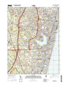 Asbury Park New Jersey Map.Usgs 1 24 000 Asbury Park New Jersey 14 00 Charts And Maps