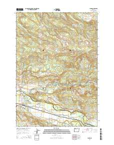 Lyons Oregon Map.Landmarkhunter Com Lyons Oregon 7 5 Minute Quadrangle