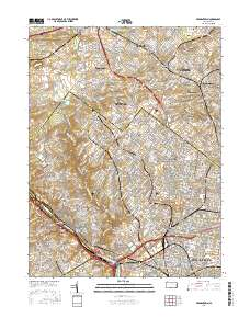 USGS US Topo 75minute map for Germantown PA 2016 ScienceBase