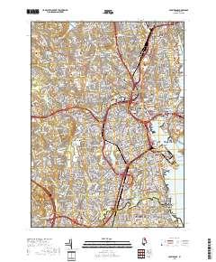 USGS US Topo 7.5-minute map for Providence, RI 2018 - ScienceBase ...