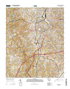 USGS US Topo 7 5-minute map for Greenville, SC 2014 - ScienceBase