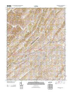 USGS US Topo 7 5-minute map for Greeneville, TN 2013 - ScienceBase