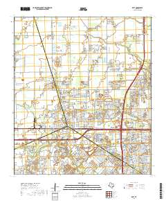 Map Of Texas Katy.Usgs Us Topo 7 5 Minute Map For Katy Tx 2019 Data Gov