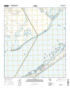 USGS US Topo 7.5-minute map for Sea Isle, TX 2016 - Data.gov Map Of Sea Isle Texas on