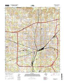 Usgs us topo 75 minute map for texarkana tx ar 2016 sciencebase thumbnail jpg image of map publicscrutiny Choice Image