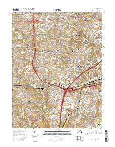 Usgs 1 24 000 Annandale Virginia 14 00 Charts And Maps Onc