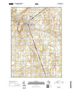 USGS US Topo 7.5-minute map for Ripon, WI 2018 - Data.gov Map Of Rilon on