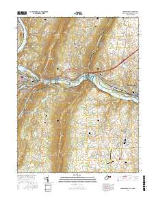 USGS US Topo 7 5-minute map for Harpers Ferry, WV-VA-MD 2016