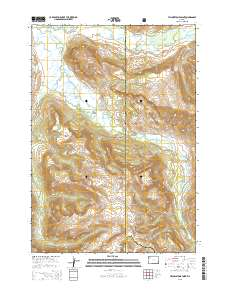 Topographic Map Of Yellowstone.Usgs Us Topo 7 5 Minute Map For Yellowstone Point Wy 2015