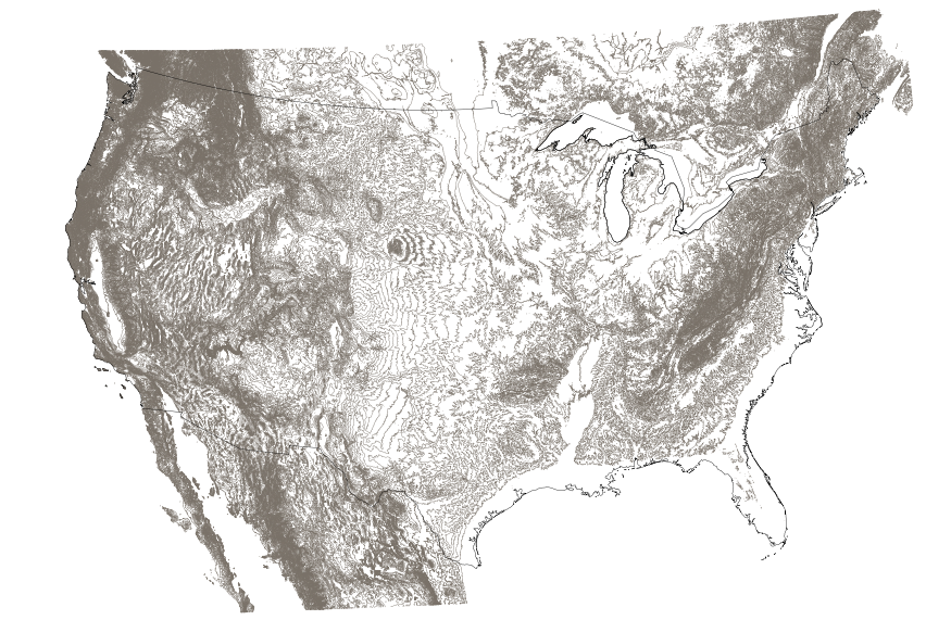 USGS Small-scale Dataset - 1:1,000,000-Scale Contours of the