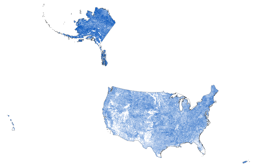 Small Map Of The United States.Usgs Small Scale Dataset Global Map 1 1 000 000 Scale Streams Of