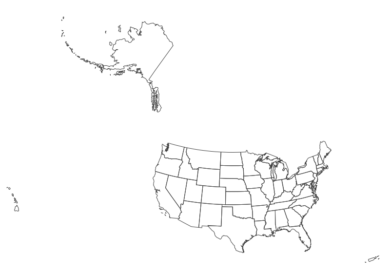 Small Map Of The United States.Usgs Small Scale Dataset State Boundaries Of The United States