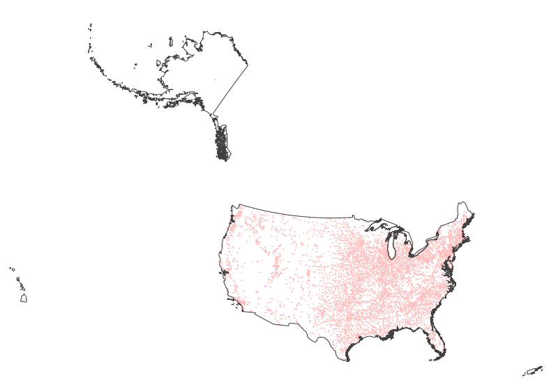 USGS 1:1,000,000-Scale Urban Areas of the United States 201504