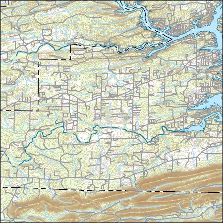 USGS Topo Map Vector Data (Vector) 20069 Hempwallace ...